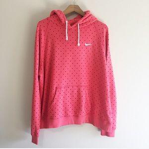 Nike Pink Polka Dot Hoodie